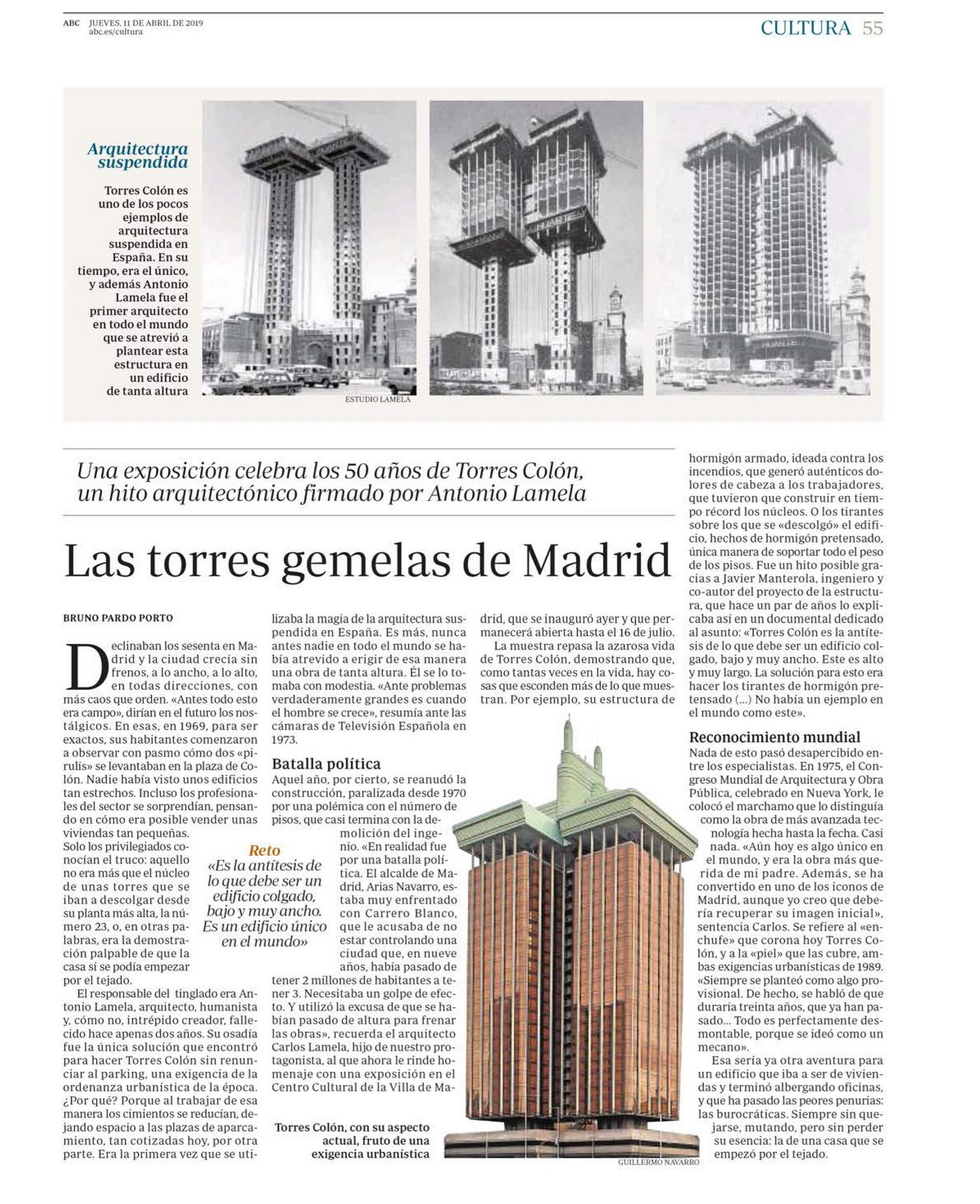 The Twin Towers of Madrid