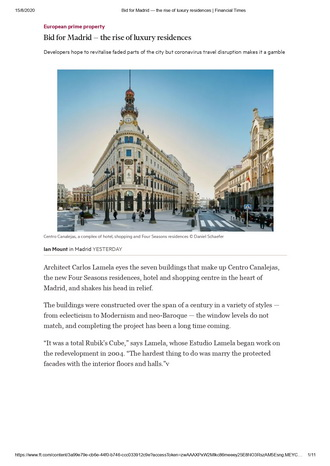 Bid for Madrid-the rise of luxury residences