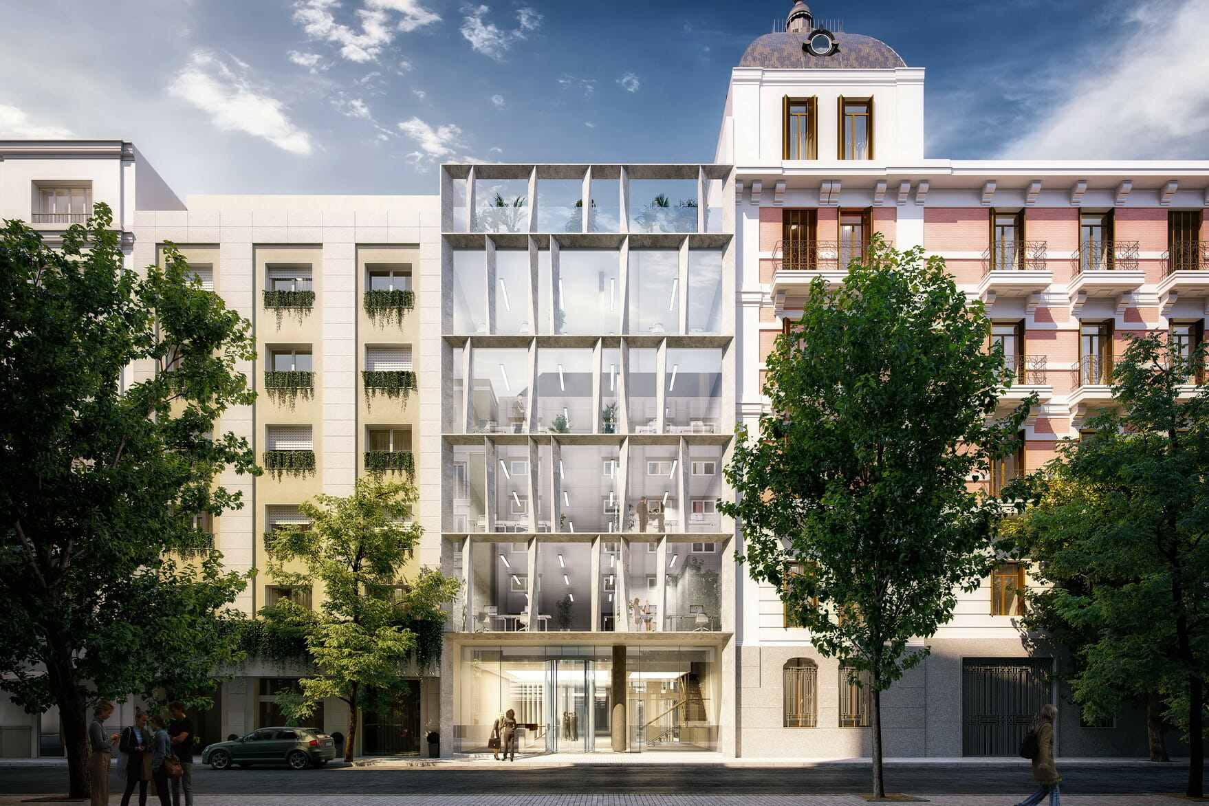 The refurbishment of offices in Amador de los Ríos (Madrid) has a license for its transformation